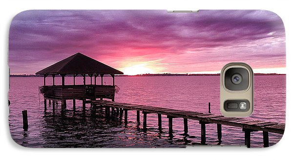 Galaxy Case featuring the photograph Into The Horizon by Rebecca Davis