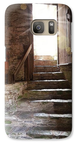 Galaxy Case featuring the photograph Into The Light - The Ephrata Cloisters by Joseph J Stevens