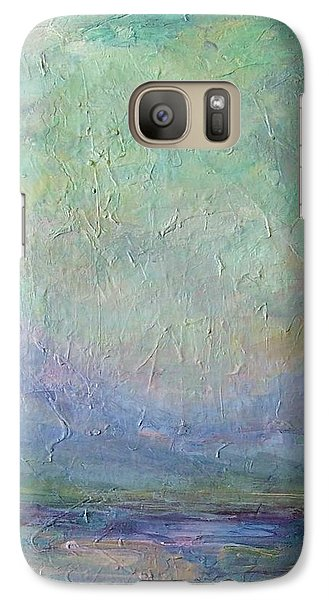 Galaxy Case featuring the painting Into The Morning by Mary Wolf