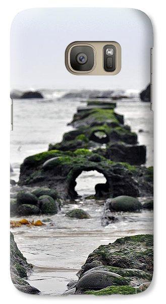 Galaxy Case featuring the photograph Into The Ocean by Minnie Lippiatt