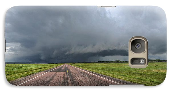 Galaxy Case featuring the photograph Into The Storm by Sebastien Coursol