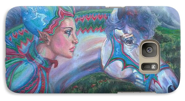 Galaxy Case featuring the painting Into The Storm by Suzanne Silvir
