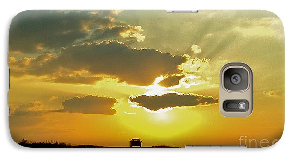 Galaxy Case featuring the photograph Into The Sunset - No.0580 by Joe Finney