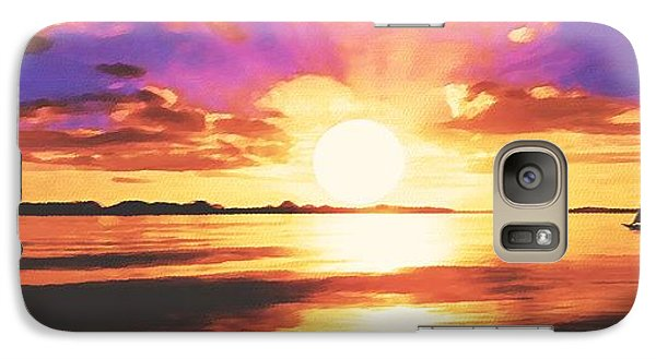 Galaxy Case featuring the painting Into The Sunset by Sophia Schmierer