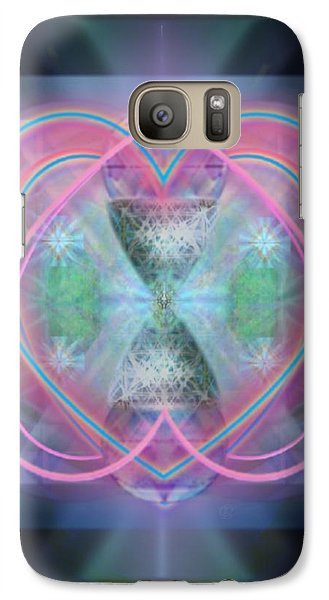Galaxy Case featuring the digital art Intwined Hearts Chalice Enveloping Orbs Vortex Fired by Christopher Pringer