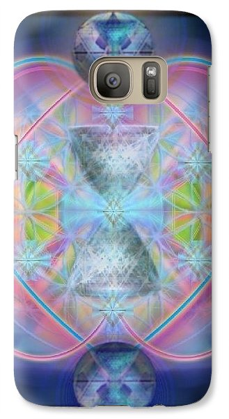 Galaxy Case featuring the digital art Intwined Hearts Chalice Gold Orb In Bright Synthesis by Christopher Pringer