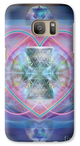 Galaxy Case featuring the digital art Intwined Hearts Chalice Wings Of Vortexes Radiant Deep Synthesis by Christopher Pringer