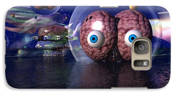 Galaxy Case featuring the digital art Invasion by Jacqueline Lloyd
