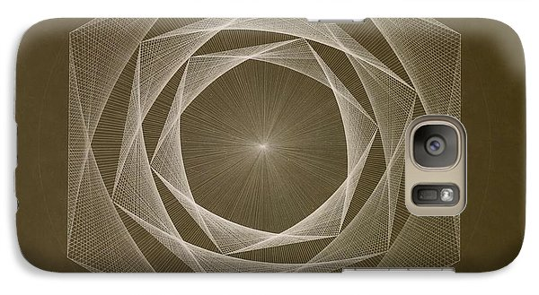 Galaxy Case featuring the drawing Inverted Energy Spiral by Jason Padgett