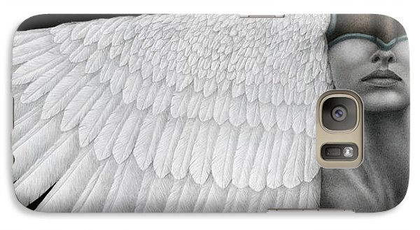 Galaxy Case featuring the painting Inward Flight by Pat Erickson
