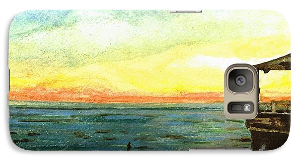 Galaxy Case featuring the painting Ionian Sea Zanti Greek Island by Teresa White