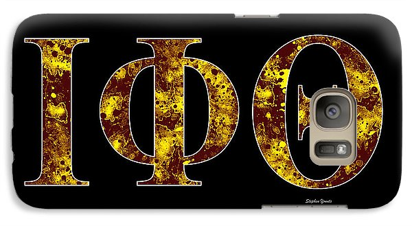 Galaxy Case featuring the digital art Iota Phi Theta - Black by Stephen Younts