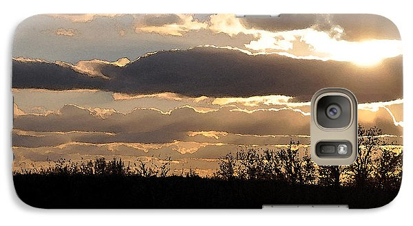 Galaxy Case featuring the digital art Iowa Sunset by Kirt Tisdale