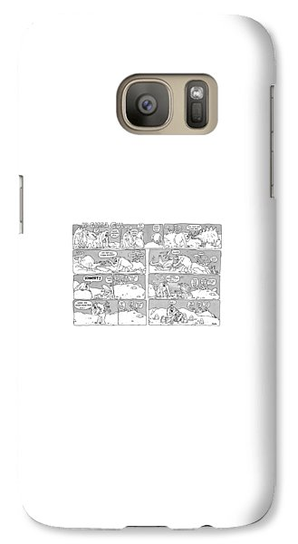 Ape Galaxy S7 Case - 'ip Gissa Gul' by George Booth