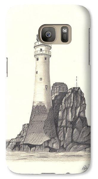 Galaxy Case featuring the drawing Ireland Lighthouse by Patricia Hiltz