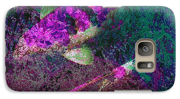 Galaxy Case featuring the photograph Iridescent Coy by Irma BACKELANT GALLERIES