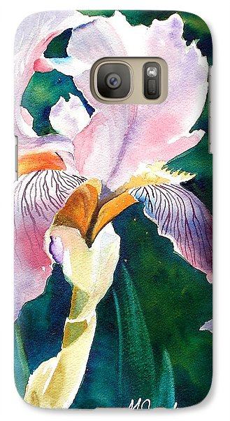 Galaxy Case featuring the painting Iris 1 by Marilyn Jacobson