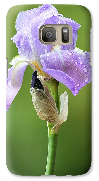 Galaxy Case featuring the photograph Iris After The Rain by Trina  Ansel