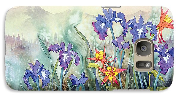 Galaxy Case featuring the painting Iris And Columbine II by Teresa Ascone