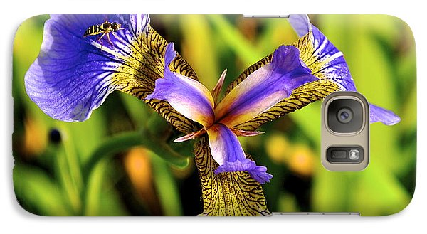 Galaxy Case featuring the photograph Iris by Cathy Mahnke