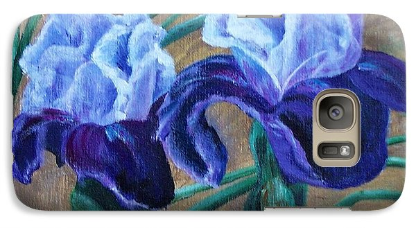 Galaxy Case featuring the painting Iris by Debbie Baker