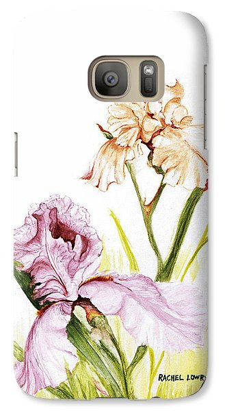 Galaxy Case featuring the painting Iris Duo by Rachel Lowry