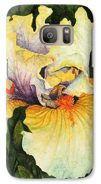 Galaxy Case featuring the painting Iris Elegance by Barbara Jewell