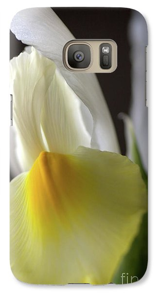 Galaxy Case featuring the photograph Iris Flower by Joy Watson