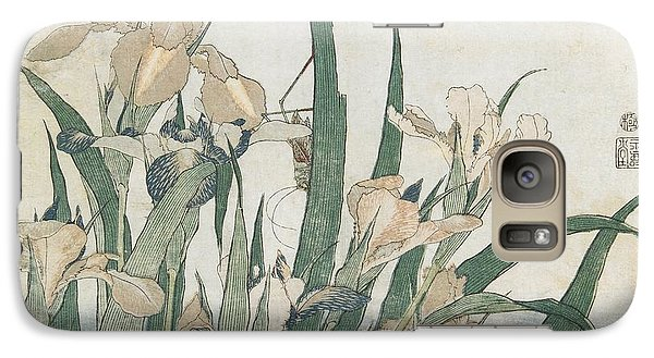 Iris Flowers And Grasshopper Galaxy S7 Case by Hokusai