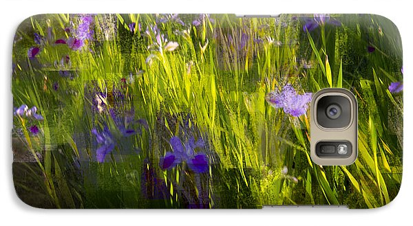 Galaxy Case featuring the photograph Iris Garden  by Linde Townsend