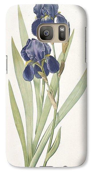 Iris Germanica Bearded Iris Galaxy Case by Pierre Joseph Redoute