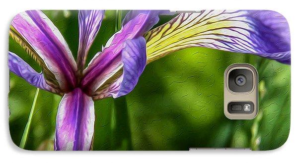 Galaxy Case featuring the photograph Iris In Oil by Susan Crossman Buscho