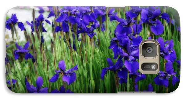 Galaxy Case featuring the photograph Iris In The Field by Kay Novy