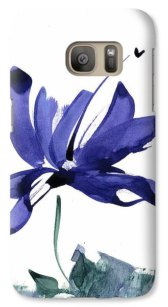 Galaxy Case featuring the painting Iris In The Greenery Watercolor by Frank Bright