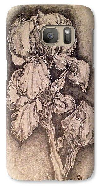 Galaxy Case featuring the drawing Iris by Iya Carson