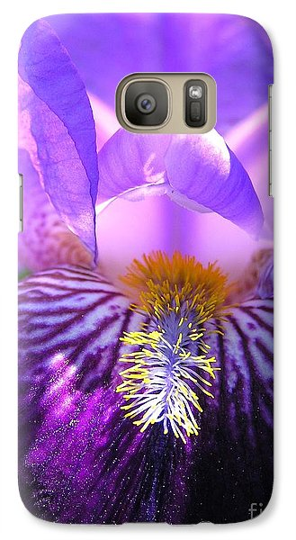Galaxy Case featuring the photograph Iris Light by Susan  Dimitrakopoulos