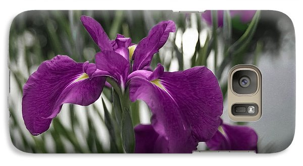 Galaxy Case featuring the photograph Iris On Pond's Edge by Penny Lisowski