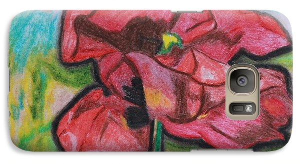 Galaxy Case featuring the painting Iris Spring by Ayasha Loya