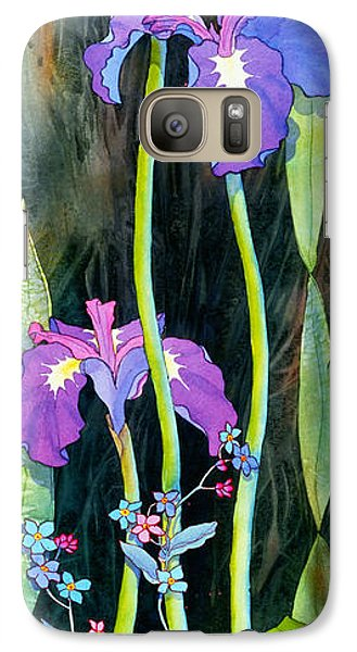 Galaxy Case featuring the painting Iris Tall And Slim by Teresa Ascone
