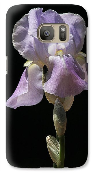 Galaxy Case featuring the photograph Iris by Trina  Ansel
