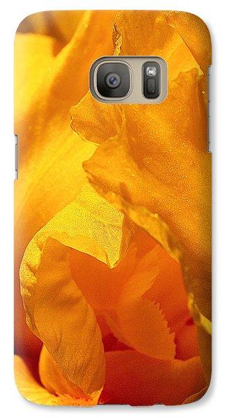Iris Undulation Galaxy S7 Case by Rona Black