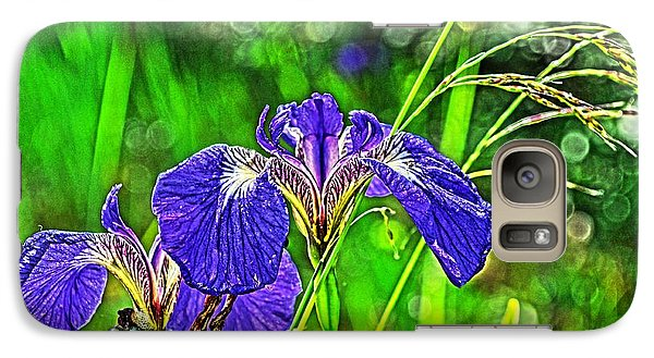 Galaxy Case featuring the photograph Irises by Cathy Mahnke