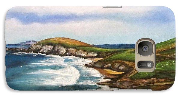 Galaxy Case featuring the painting Dingle Peninsula Irish Coastline by Melinda Saminski
