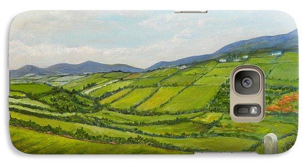 Galaxy Case featuring the painting Irish Fields - Landscape by Sandra Nardone