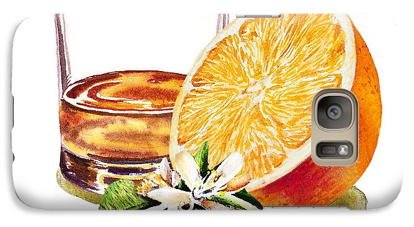 Galaxy Case featuring the painting Irish Whiskey And Orange by Irina Sztukowski
