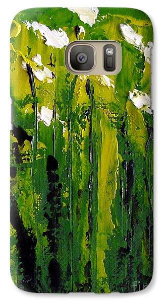 Galaxy Case featuring the painting Iris's by Fred Wilson
