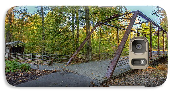 Galaxy Case featuring the photograph Iron Bridge At Yellow Creek by Wendell Thompson