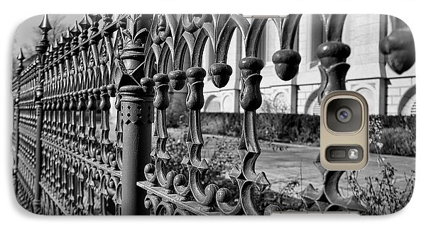 Galaxy Case featuring the photograph Iron Fence Detail by Kate Purdy