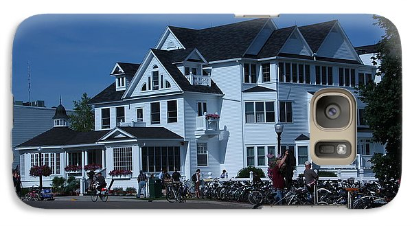 Galaxy Case featuring the photograph Iroquois Hotel Mackinaw Island by Bill Woodstock