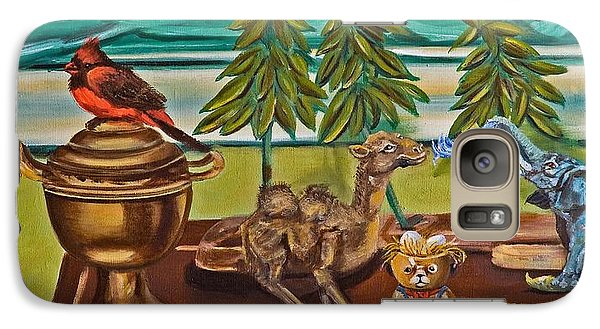 Galaxy Case featuring the painting Is It Time For A Shower by Susan Culver